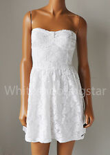 NWT ABERCROMBIE & FITCH ANF WOMENS GWYNETH WHITE FLORAL LACE DRESS $68