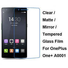 Tempered Glass/Clear/Matte/Mirror Screen Film Protector For OnePlus One+ A0001