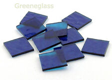 Aqua Blue Cathedral Rough Rolled Mosaic Glass Tile - Shapes - Spectrum - H Pack