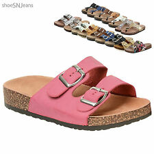 New Women Casual Buckle Straps Sandals Thong Flip Flop Platform Footbed Shoes