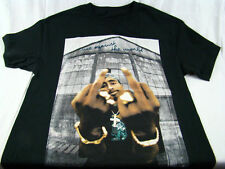 Mens NWT Tupac 2PAC Rapper Me Against The World Black T-Shirt Size L 2XL