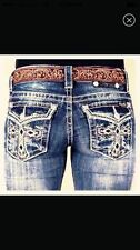 New NWT Womens Denim Jeans Miss Me Bootcut 24 25 26 27 28 29 30 31 32 33 34