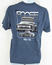 Mens NEW Ford Chip Foose F-100 Truck Navy Heather Short Sleeve T-Shirt Any Size