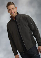 Roper Outerwear Mens Gray Poly Stretch Waterproof Tech Softshell Jacket