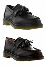 New Dr Martens Adrian Mens Black Leather Tassel Loafer Shoes Size UK 9-12