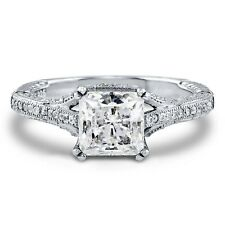 BERRICLE Sterling Silver AAAAA CZ Solitaire Engagement Wedding Bridal Ring