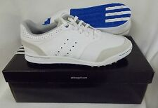 New Adidas Adicross III Spikeless Golf Shoes Q46649 - White/Satellite Blue