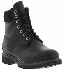 Timberland Black 6'' Waterproof Leather Boots Mens Shoes Size UK 10 SALE