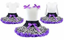 Rockstar Zebra Purple Tutu Pettiskirt Outfit Birthday Pageant Party *NWT* 1-10Y