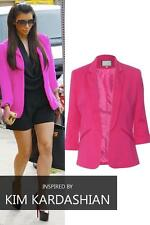 New Womens Ladies Candy Colors Stylish Suit Jacket Blazer Size 6 8 10 12 14 16