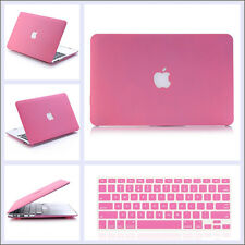 "2in1 Pink Quicksand Hard Matt Case Keyboard Cover for Macbook Air 11""/ PRO 13 15"