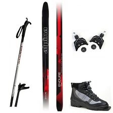 NEW ALPINA ENDURE XC cross country 75mm SKIS & BINDINGS & BOOTS & POLES - 190cm