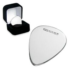Personalised 925 Sterling Silver Guitar Plectrum Pick, ANY MESSAGE ENGRAVED FREE