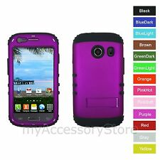 For Samsung Galaxy ACE Style PURPLE Hybrid Rugged Impact Armor Phone Case Cover