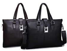 Fashion Mens Tote Leather Handbag Shoulder Messenger Laptop Bag Briefcase Purse