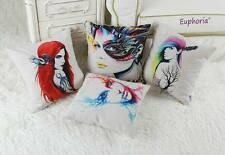 """18""""X18"""" Tide Fashion Red Girl Lady Tattoo Artwork Cushion Covers Pillows Shell"""