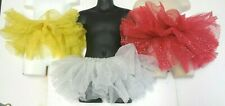NWOT Glittered Tutu child/ ladies ballet 3 layer bando 3 colors child/adlt silvr