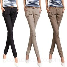 Women pencil Trousers Straight Leg Bootcut Pants Ladies Chinos Skinny Jeans Size