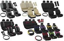 Seat Covers for Auto Set of Cloth Bucket/Bench/Steering Wheel/Belt Pad/Head Rest