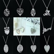 Hot Mother's Day Gift GLOWING Glow In The Dark Locket Pendant Necklace Jewelry