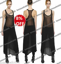 Womens MESH SHEER see through TANK back Summer CASUAL PARTY CLUB Long Maxi Dress