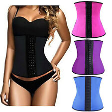 Women Latex Rubber Waist Training Cincher Underbust Corset Body Shaper T56S