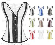 #H8030RW Genuine Leather Full Steel Boned Heavy Lacing Overbust Shaper Corset