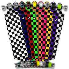 Punked Checker Graphic Speed Drop down Longboard Complete skateboards