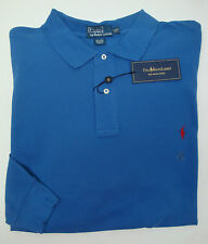 NWT $95 Polo Ralph Lauren Mesh Shirt Mens LONG SLEEVE 2XLT 3XLT BLUE NEW