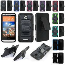 For HTC Desire 510 Rugged Cell Phone Case Hybrid Hard Cover + Belt Clip Holster