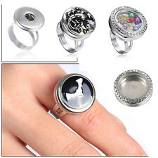Snap-It Men Women Punk Chunk Button Floating Charm Locket For Snap Ring Jewelry