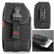 Reiko Heavy Duty Rugged Nylon Carrying Case Pouch Holster Clip Belt Loop Black