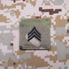 Multicam Black Design U.S.ARMY Rank Military Embroidery Velcro Patch Insignia