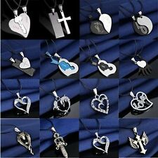 2017 Fashion Unisex's Men Stainless Steel Cross Pendant Necklace Chain Silver