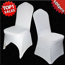 100pcs Wholesale Lots Universal White Polyester Spandex Wedding Chair Covers
