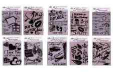 PICK FROM 23 RUBBER STAMP SETS & CLEAR ACRYLIC STAMPING BLOCK CRAFT CARD MAKING