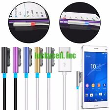 Aluminum Magnetic Charging Cable Charger W/ LED For Sony Xperia Z3 Compact Z2 Z1