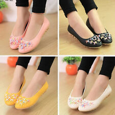 New Women Round Toe Ballet Flat Shoes Faux Leather Casual Shallow Mouth Shoes