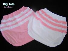 Adult Baby Ruffle Butt knit(stretch diaper pant Lg to XPlus Size Big Tots by MsL