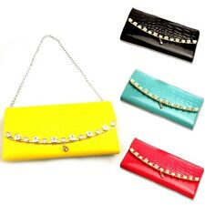 New Occident Lady's Fashion Faux Leather Long Card Holder Wallet Purse Handbag
