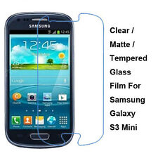 New Tempered Glass/Clear/Matte Screen Protector For Samsung Galaxy S3 Mini i8190