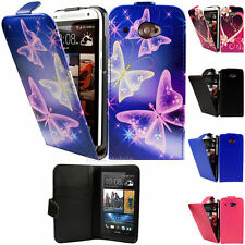 Flip Pu Leather Flip Case Wallet Cover For The HTC Desire 601