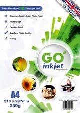 GO Inkjet A4 Glossy Photo Paper 230gsm for Inkjet Printers 50-5000 Gloss sheets