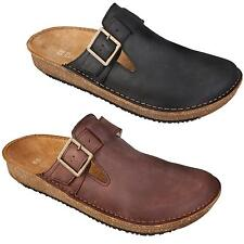 New El Naturalista ND40 Contradicion Mens Leather Black Brown Clogs Size UK 8-11