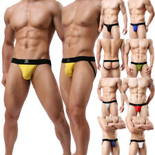 HOT Sexy Mens Underwear Modal Jockstrap Short Pants G-string Thongs Underpants