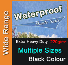 Heavy Duty Waterproof Water Proof Shade Sail Black Triangle Square Rectangle