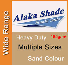 Heavy Duty Shade Sail Sand Beige Sun Canopy Outdoor Triangle Square Rectangle