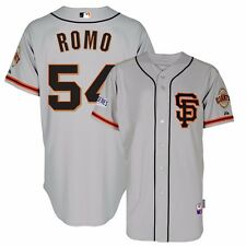 Sergio Romo 2014 SF Giants Authentic World Series Alt Grey Cool Base Jersey