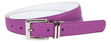 Nike Womens Perforated To Smooth Reversible Belt, Bold Berry / White