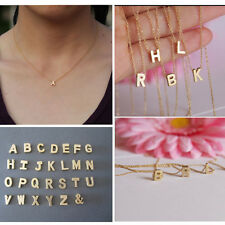 Stylist Women Gift Gold plate Letter name Initial chain Pendant Fashion Necklace